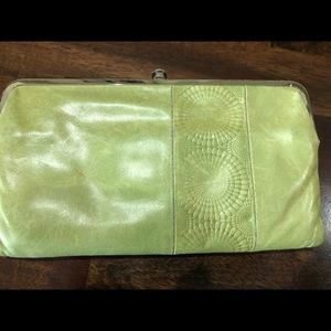 Hobo wallet - lime green